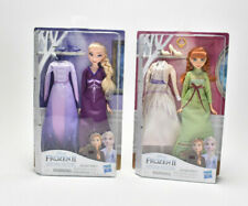 NEW Disney Frozen II Princess Elsa and Anna Dolls 4 Outfits Arendelle Fashions