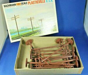 Plasticville - O-O27 - #1630 Telephone Poles (12 pcs) - Ex. Condition - Box