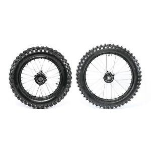 Front & Rear Tire Wheel Rim Set 70/100-17 & 90/100-14  15mm Axle for Dirt Bike