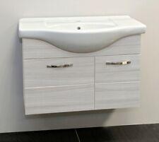 Mobile bagno sospeso 85 cm con lavabo in ceramica Bianco venato