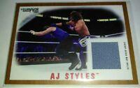 WWE AJ Styles 2017 Topps Heritage Bronze Survivor Series Mat Relic Card SN 47/99