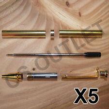 Gold Slimline Pen Kits X 5 off Sets - for woodturning