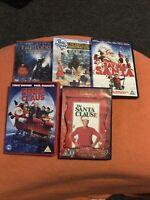 Christmas dvd bundle Polar Express Santa And Fred Claus Peter Rabbit Save Santa