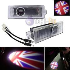 2 UK Flag Logo Door Courtesy Laser Shadow Light for Mini R55 R56 R57 R58 R59 R60