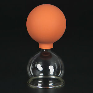 Schröpfglas Schröpfgläser mit Saugball med. Schröpfen Original Lauschaer Glas