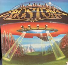 BOSTON DON'T LOOK BACK LP 1978 EPIC FE- 35050 ORANGE LABEL GATEFOLD INNER