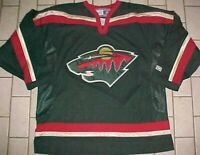 Minnesota Wild Team Logo NHL Central CCM Green Red Gold Adult Hockey Jersey XL