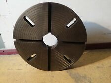 Lathe Face Plate 20 Od T Slotted D1 11 Camlock Spindle Used Good Condition