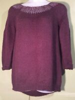 Nasty Gal S Oversized Soft 27% Mohair 7% Wool Aubergine Jumper Casual Comfort