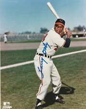LARRY DOBY SIGNED CLEVELAND INDIANS 8X10 LICENSED COLOR PHOTO 1998 HALL OF FAME