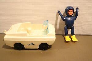 Vintage 1960's Eldon BILLY BLASTOFF Scuba Diver Aqua Marine Action Figure & Car