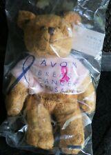 Nip Avon Breast Cancer Crusade Pink Ribbon Teddy Bear Beanie Stuffed 2001 Nwt