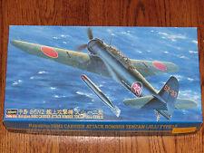 "Hasegawa 1/48 Japanese Navy WWII Nakajima B6N2 Type 12 Torpedo Bomber ""Jill"" NIB"
