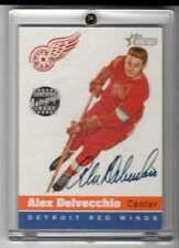 Alex Delvecchio 2001 Topps Heritage On Card Autograph #HA-AD Red Wings