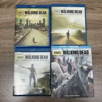 The Walking Dead Lot Seasons 1-4 Bluray Rick Grimes Zombies Excellent