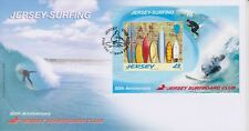 Unaddressed Jersey First Day Cover FDC 2009 Surfing Surfboard Club Sheet
