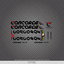 0732 Concorde Prelude Bicycle Stickers - Decals - Transfers - Black