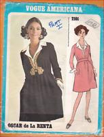 Vintage Vogue Americans 2101 Oscar de La Renta Evening Dress Pattern Size 14