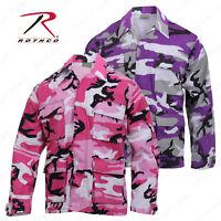 Rothco Ultra Violet or Pink Camo BDU Top - Mens Long Sleeve BDU Camo Shirt
