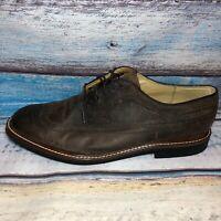 Men's Martin Dingman Wingtip Oxfords Distressed Leather 13 D Dress Work Brown