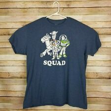 Mens Disney Pixar Toy Story Buzz Lightyear, Woody, & Bulleye Print Shirt Sz 2XL