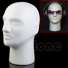 Styrofoam Foam Mannequin Manikin Male Head Model Wig Hat Glasses Display Stand