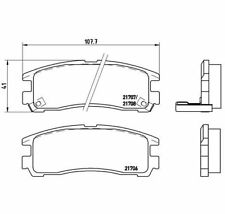 BREMBO Brake Pad Set, disc brake P 54 012