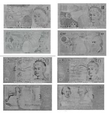 FULL SET UK POUNDS GBP 5-50 REPLICA SILVER