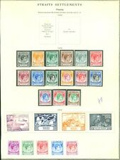 MALAYA : 1949. Complete George VI & UPU sets from Malacca & Penang. Cat £300