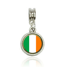 Flag of Ireland Euro European Italian Style Bracelet Bead Charm