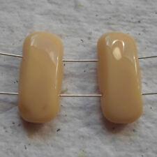 Czech Glass Beads ~ 20 x 22mm Butterscotch Double Holed Beads