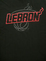 M black LEBRON JAMES bsketball t-shirt by MAJESTIC - NBA licensed - MIAMI HEAT