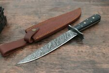 Damascus Steel skinner knife Hand forged knives micarta sheet, Bowie knife