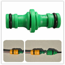 Double Way Garden Water Hose Pipe Connector Tubing Fittings Watering Yard