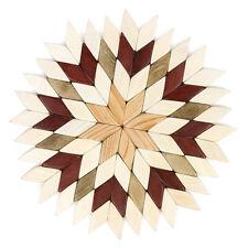 "7"" Round Wooden Trivet Hot Plate Stand w/ Natural Juniper Scent"