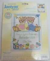 Cross Stitch Kit Baby Bears Birth Announcement New Janlynn