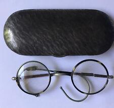 Brille mit Flexibügel im schönem alten, original Metall-Etui von Optal