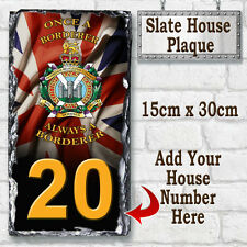 Kings Own Scottish Borderer Regiment Custom Army Slate House Sign Number Plaque