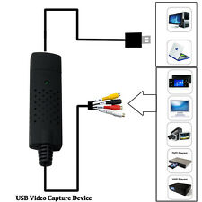 1Channel Audio Video USB Video Capture Card VHS VCR TV to DVD Converter Adapter