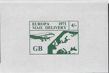 Uk Cinderella Strike stamp: 1971 Europa Mail Delivery Gb 4/- (dw535)