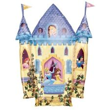 "DISNEY PRINCESS CASTLE LARGE BALLOON BELLE ARIEL CINDERELLA - 35"" FOIL BALLOON!"