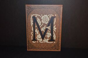 METAL WALL HANGING PLAQUE WITH LETTER M -NEW