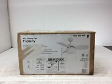 Triplicity 30 in. Indoor White Ceiling Fan with Light