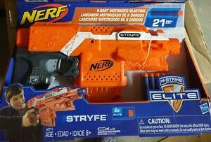 Brand New NERF N-Strike Elite STRYFE Dart BLASTER Orange Grey Trigger