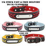 Personalised Custom Soft Braided Leather Pet Dog cat ID Collar & Name Number UK