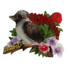 Magnet 3D Australia Kookaburra Bird Fauna Flora Flowers Australian Souvenir NEW