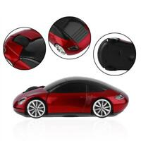 Car Shape 2.4GHz Wireless Cordless Optical Mouse Mice USB Receiver for Laptop ZH