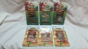 6 Harry Potter TCG 3 Diagon Alley 3 Quidditch Cup Blister Booster Packs Creases