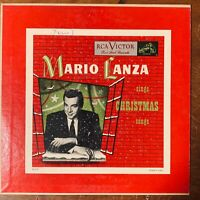 "MARIO LANZA SINGS CHRISTMAS SONGS 10""  RCA VICTOR RED SEAL VERY GOOD RARE PROMO"