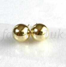 fashion1uk 14K Yellow Gold Plated Unisex Ball 8mm Mens Women Stud Earrings Pair